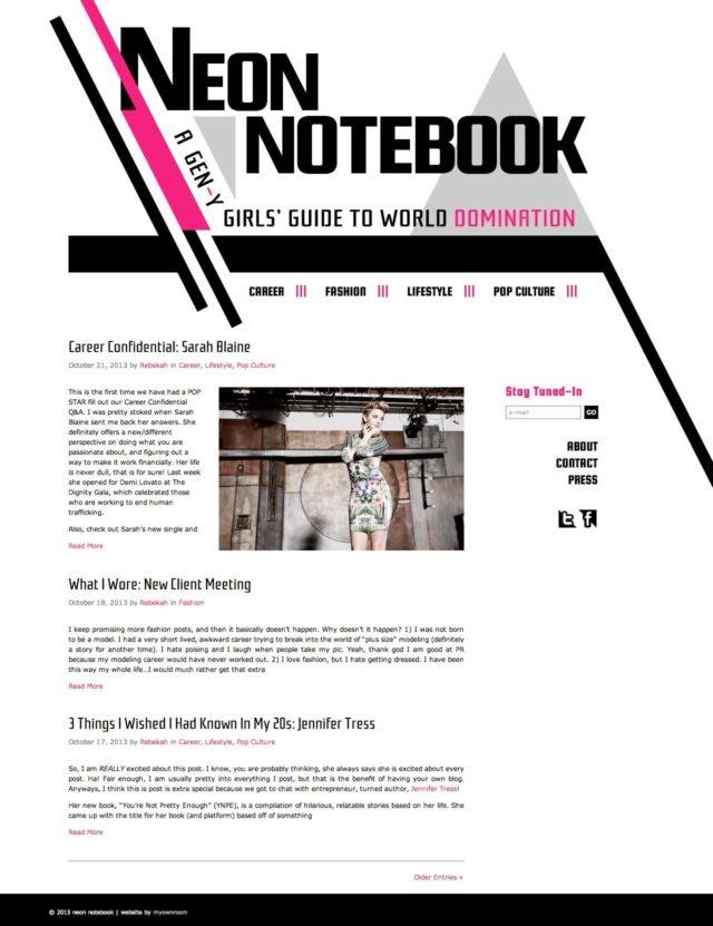 Neon Notebook